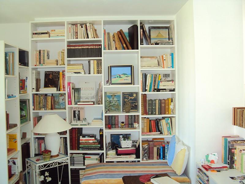 Bibliotheque medium peint